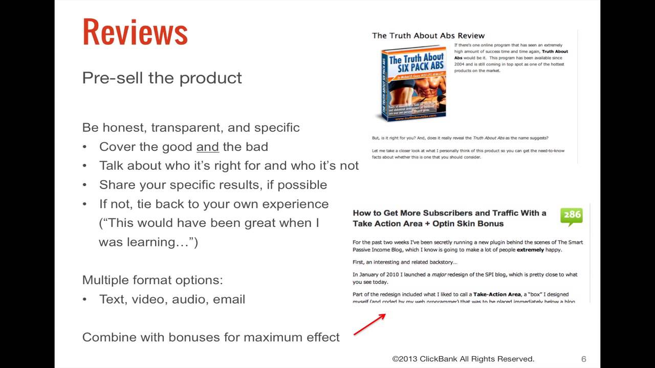 ClickBank Affiliate Training Step 4: Promote Products