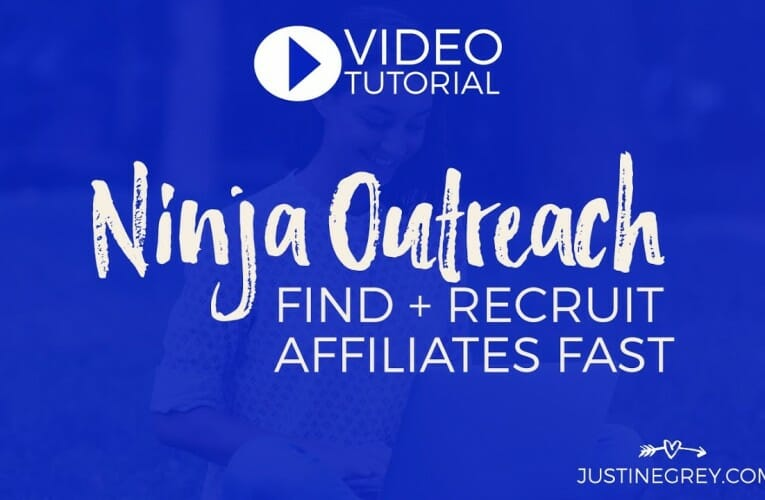 Affiliate Recruitment: Find & Email Affiliates with Ninja Outreach
