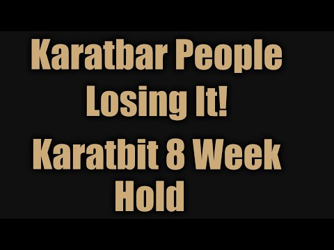 Discouraged Affiliates Attitudes Are Reversing With Pro Karatbar / Latest News Karatbit 8 Week Hold