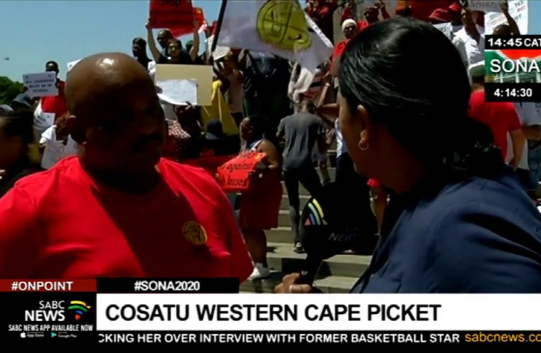 #SONA2020 | Cosatu and affiliates stage a picket at the Grand Parade