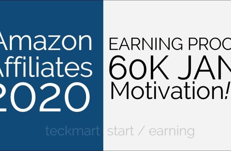 *60K EARNING* Motivation Amazon Affiliates Earning Proof Hindi January 2020