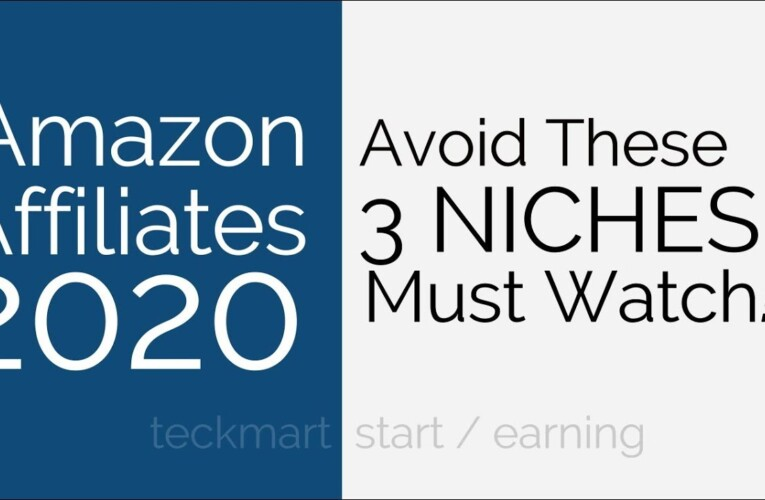 Avoid These Niches for Amazon Affiliates Website Hindi 2020