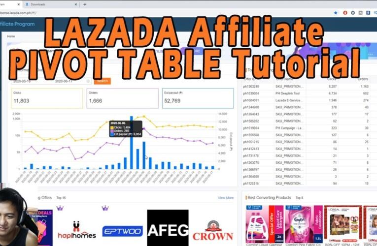 Lazada Affiliates Helping Group Pivot Table Tutorial