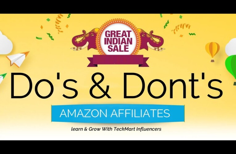 *GUARANTEED INCOME* | Amazon Great India Sale  | Amazon Affiliates DO'S & DONT'S HINDI