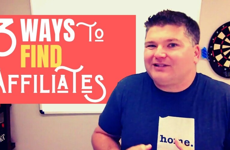 3 Ways to Find Affiliates