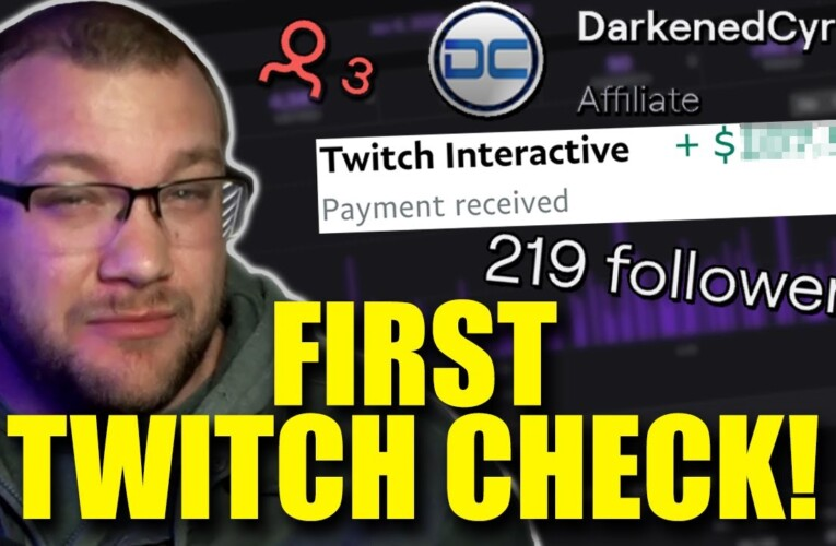 MY FIRST TWITCH CHECK! How Much Do Small Twitch Affiliates Make?