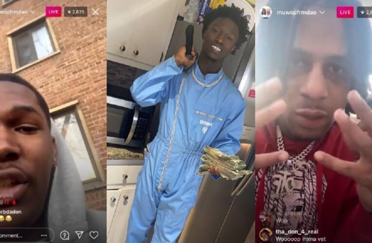 King Von affiliates MUWOP and BJ Out in O Block after Lil Tim is Released