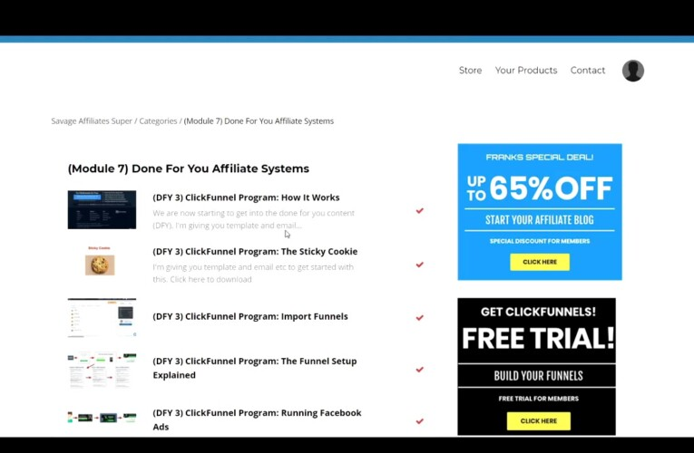 Savage Affiliates Honest Review Franklin Online Affiliate Marketing Course (2021) (Scam?)