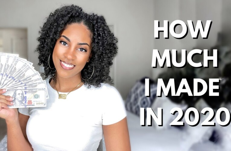 HOW MUCH MONEY I MADE IN 2020 // YOUTUBE, SPONSORSHIPS & AFFILIATES!