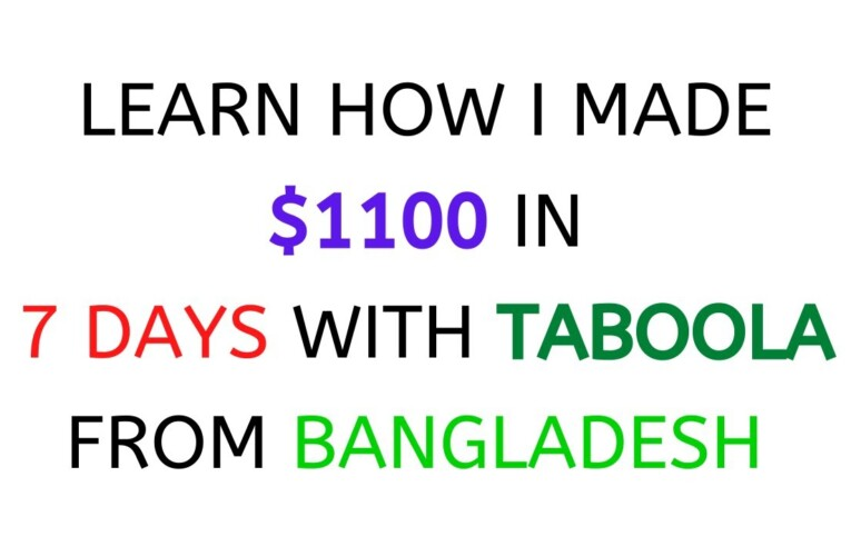 Taboola Native Ads Campaign To Promote CPA Affiliate Offers