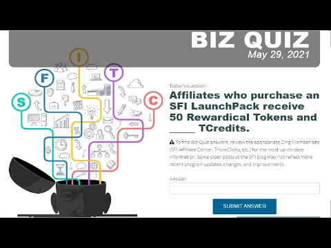 Affiliates who purchase an SFI LaunchPack receive 50 Rewardical Tokens and _____ TCredits.