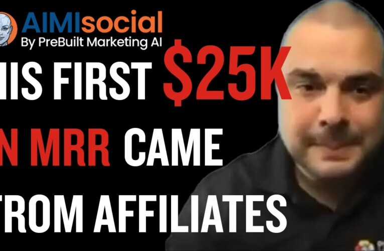 Copy his playbook: His first $25k in MRR came from affiliates