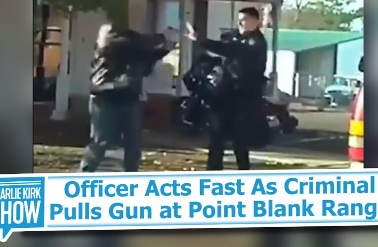 Officer Acts Fast As Criminal Pulls Gun at Point Blank Range