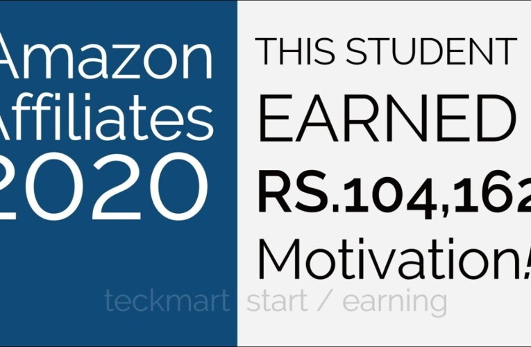 This Student Earned Rs 104000 Amazon Affiliates Hindi Get Guidance