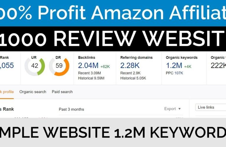 Create $1000 High Profit 100% Compliant Amazon Affiliate REVIEW WEBSITE EXAMPLE
