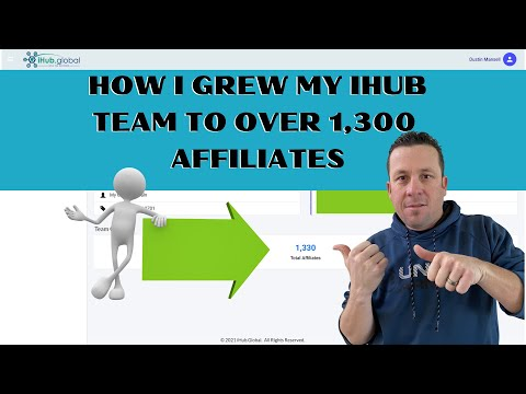 How I grew my IHUB team to over 1300 Affiliates {The tool will shock you}