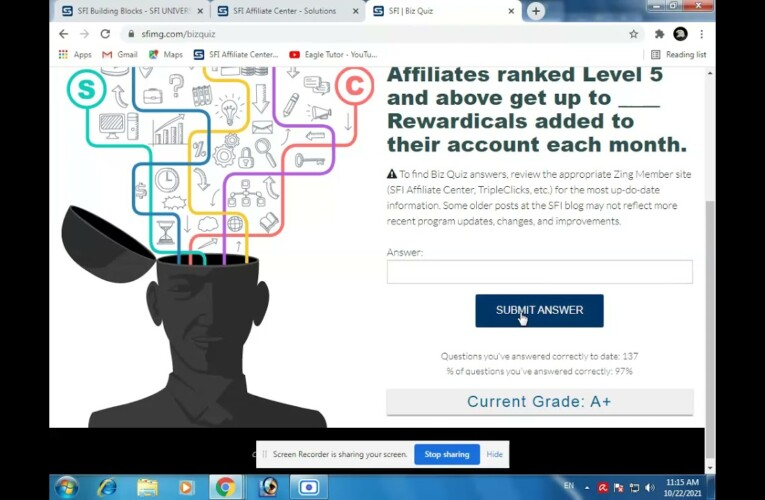 Affiliates ranked Level 5 and above get up to ____ Rewardicals added to their account each month.